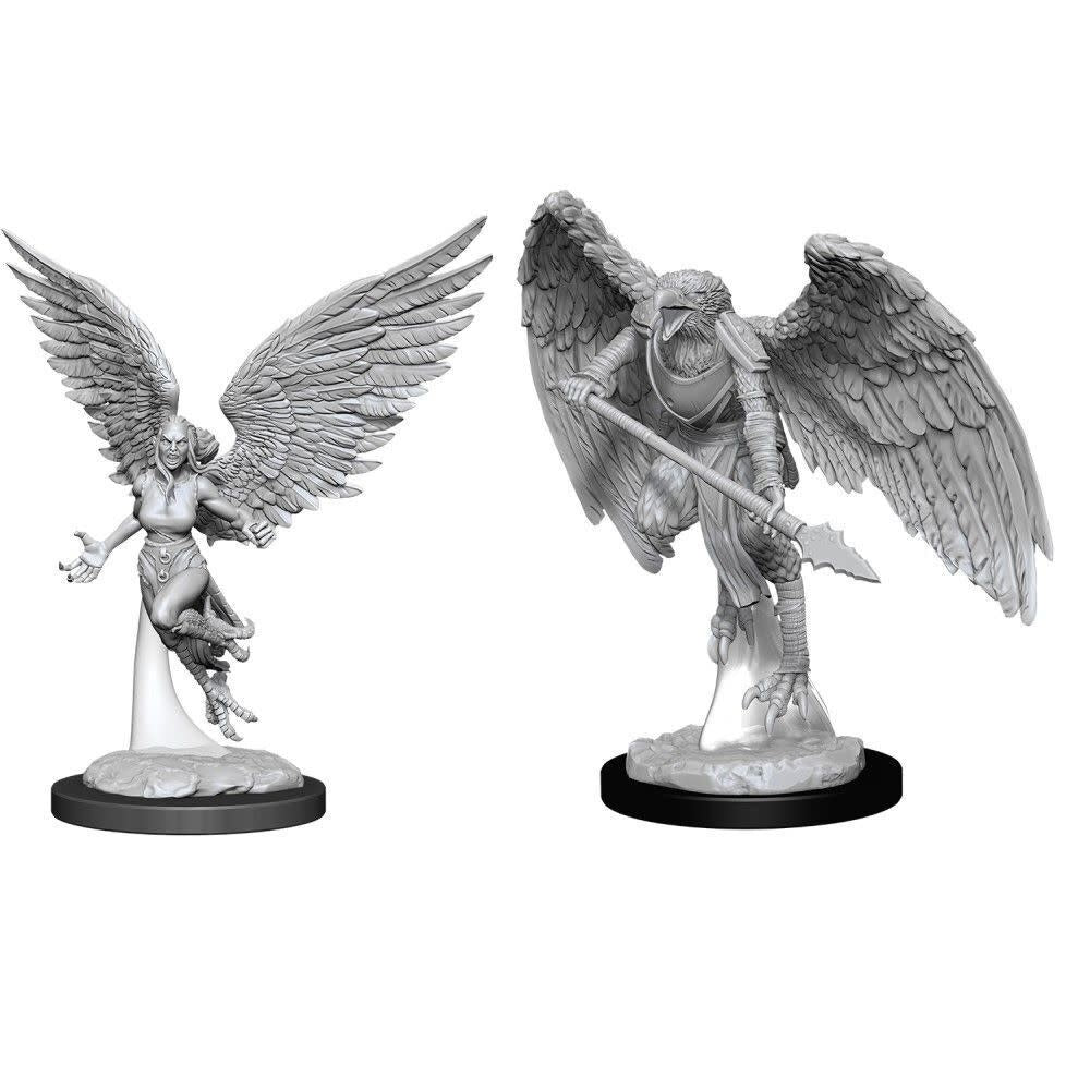 DUNGEONS AND DRAGONS: NOLZUR'S MARVELOUS UNPAINTED MINIATURES -W11-HARPY AND ARAKOCRA