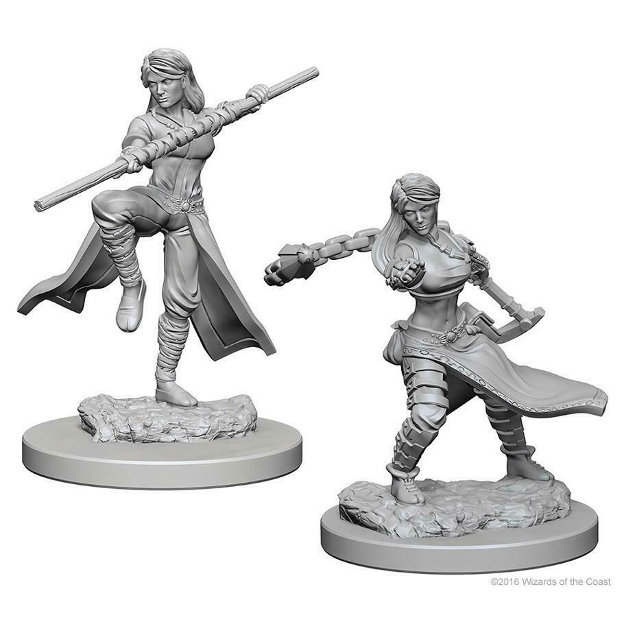 DUNGEONS AND DRAGONS: NOLZUR'S MARVELOUS UNPAINTED MINIATURES -W1-FEMALE HUMAN MONK