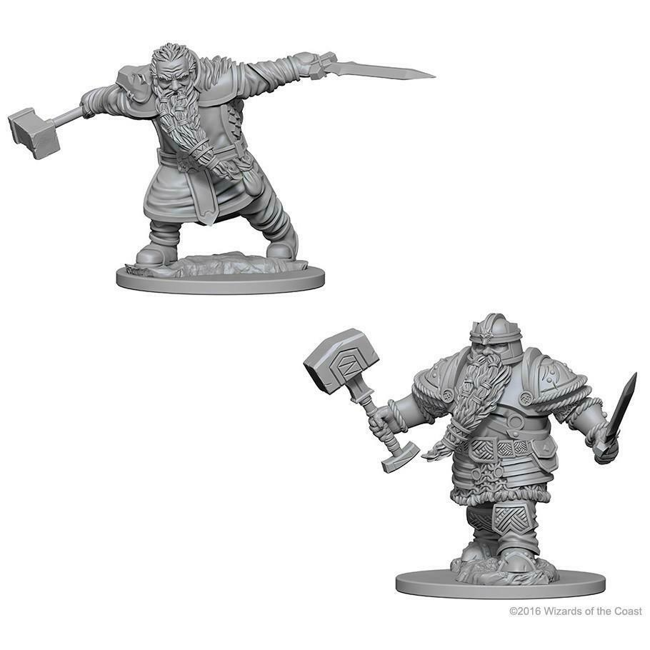 DUNGEONS AND DRAGONS: NOLZUR'S MARVELOUS UNPAINTED MINIATURES -W1-MALE DWARF FIGHTER