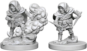 DUNGEONS AND DRAGONS: NOLZUR'S MARVELOUS UNPAINTED MINIATURES -W1-MALE HALFLING ROGUE