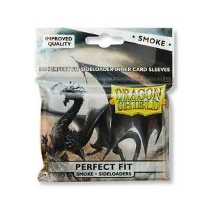 Dragon Shield Perfect Fit Sideloaders Inner Card Sleeves Smoke
