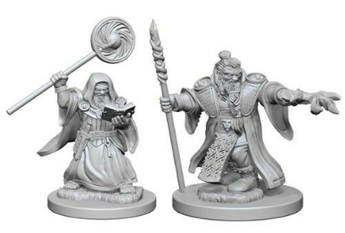 DUNGEONS AND DRAGONS: NOLZUR'S MARVELOUS UNPAINTED MINIATURES -W1-MALE DWARF WIZARD