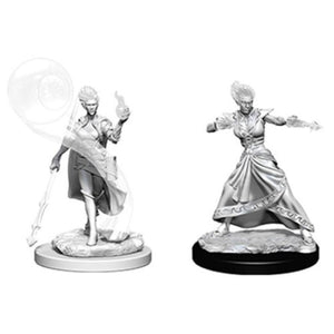 DUNGEONS AND DRAGONS: NOLZUR'S MARVELOUS UNPAINTED MINIATURES -W5-FEMALE FIREGENASI WIZARD
