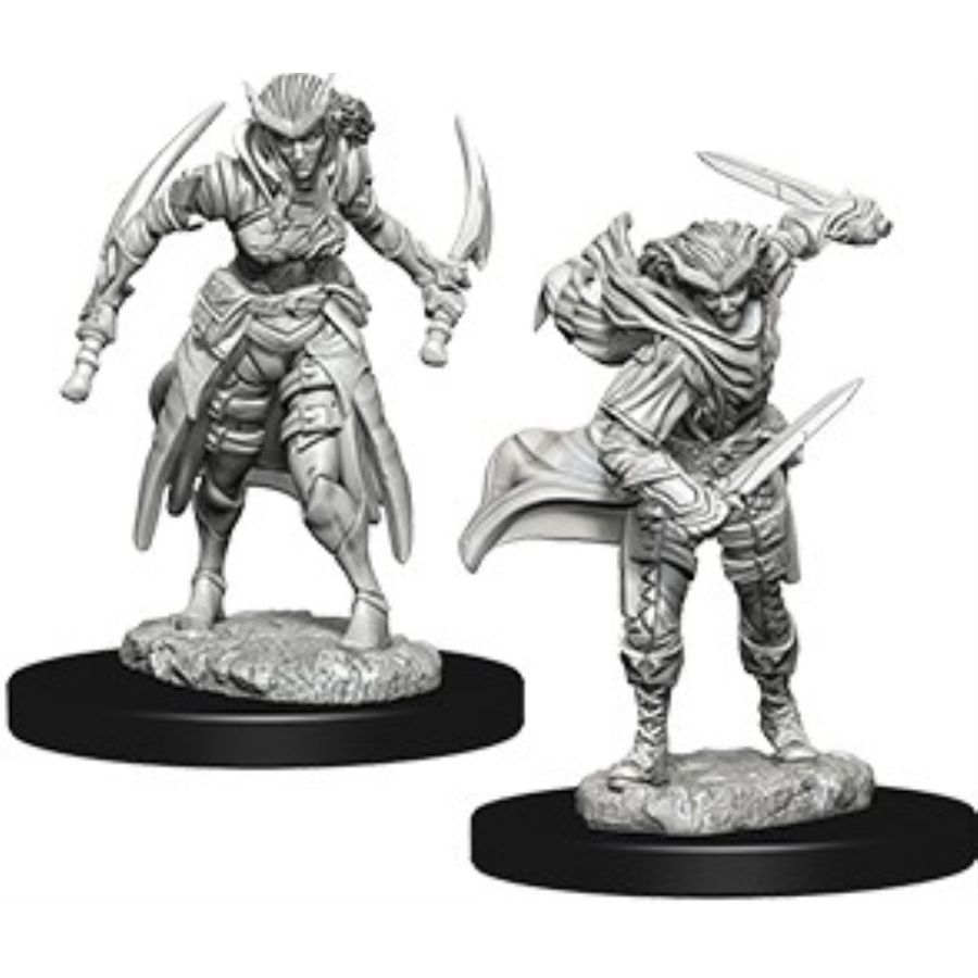 DUNGEONS AND DRAGONS: NOLZUR'S MARVELOUS UNPAINTED MINIATURES -W7-FEMALE TIEFLING ROGUE
