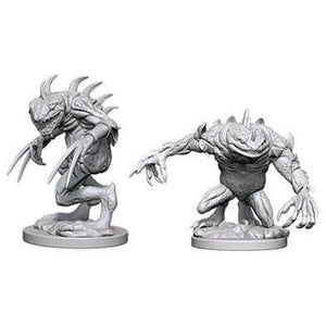DUNGEONS AND DRAGONS: NOLZUR'S MARVELOUS UNPAINTED MINIATURES -W5-GREY SLAAD AND DEATH SLAAD