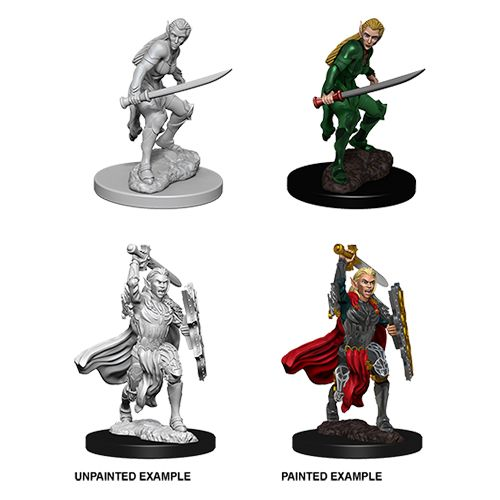 DUNGEONS AND DRAGONS: NOLZUR'S MARVELOUS UNPAINTED MINIATURES -W6-FEMALE ELF FIGHTER