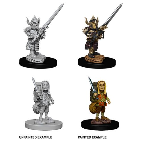 DUNGEONS AND DRAGONS: NOLZUR'S MARVELOUS UNPAINTED MINIATURES -W6-MALE HALFLING FIGHTER