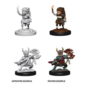 DUNGEONS AND DRAGONS: NOLZUR'S MARVELOUS UNPAINTED MINIATURES -W6-FEMALE HALFLING FIGHTER