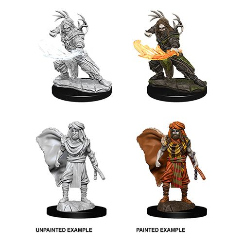 DUNGEONS AND DRAGONS: NOLZUR'S MARVELOUS UNPAINTED MINIATURES -W6-MALE HUMAN DRUID