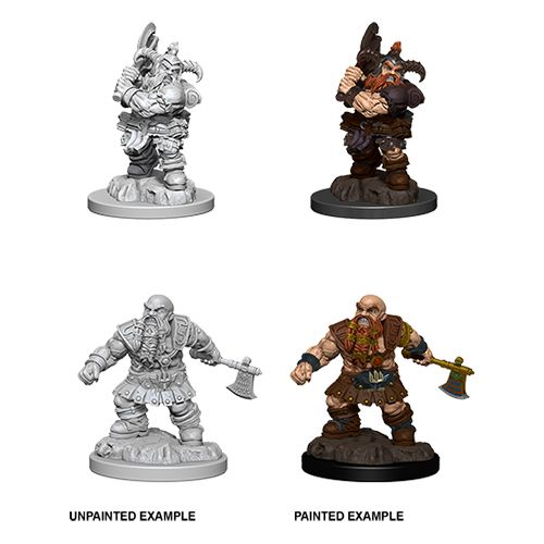 DUNGEONS AND DRAGONS: NOLZUR'S MARVELOUS UNPAINTED MINIATURES -W6-MALE DWARF BARBARIAN
