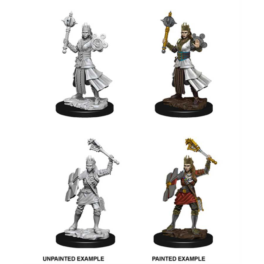 DUNGEONS AND DRAGONS: NOLZUR'S MARVELOUS UNPAINTED MINIATURES -W8-FEMALE HUMAN CLERIC