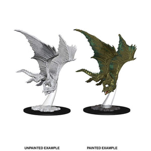 DUNGEONS AND DRAGONS: NOLZUR'S MARVELOUS UNPAINTED MINIATURES -W9-YOUNG BRONZE DRAGON
