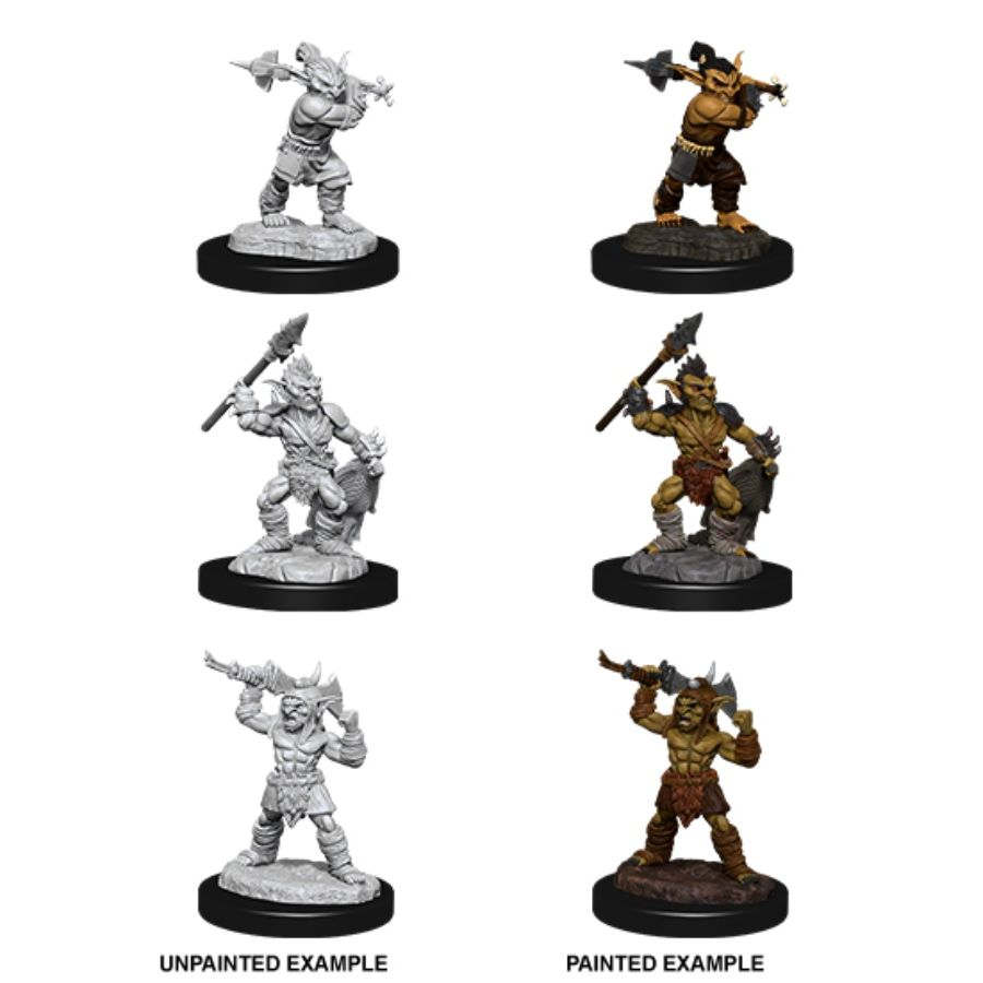 DUNGEONS AND DRAGONS: NOLZUR'S MARVELOUS UNPAINTED MINIATURES: W12 GOBLINS AND GOBLIN BOSS