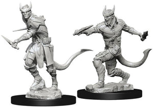 DUNGEONS AND DRAGONS: NOLZUR'S MARVELOUS UNPAINTED MINIATURES -W5-MALE TIEFLING ROGUE