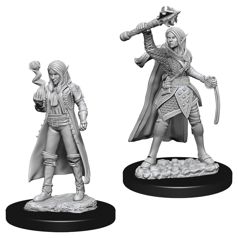DUNGEONS AND DRAGONS: NOLZUR'S MARVELOUS UNPAINTED MINIATURES -W10-FEMALE ELF CLERIC