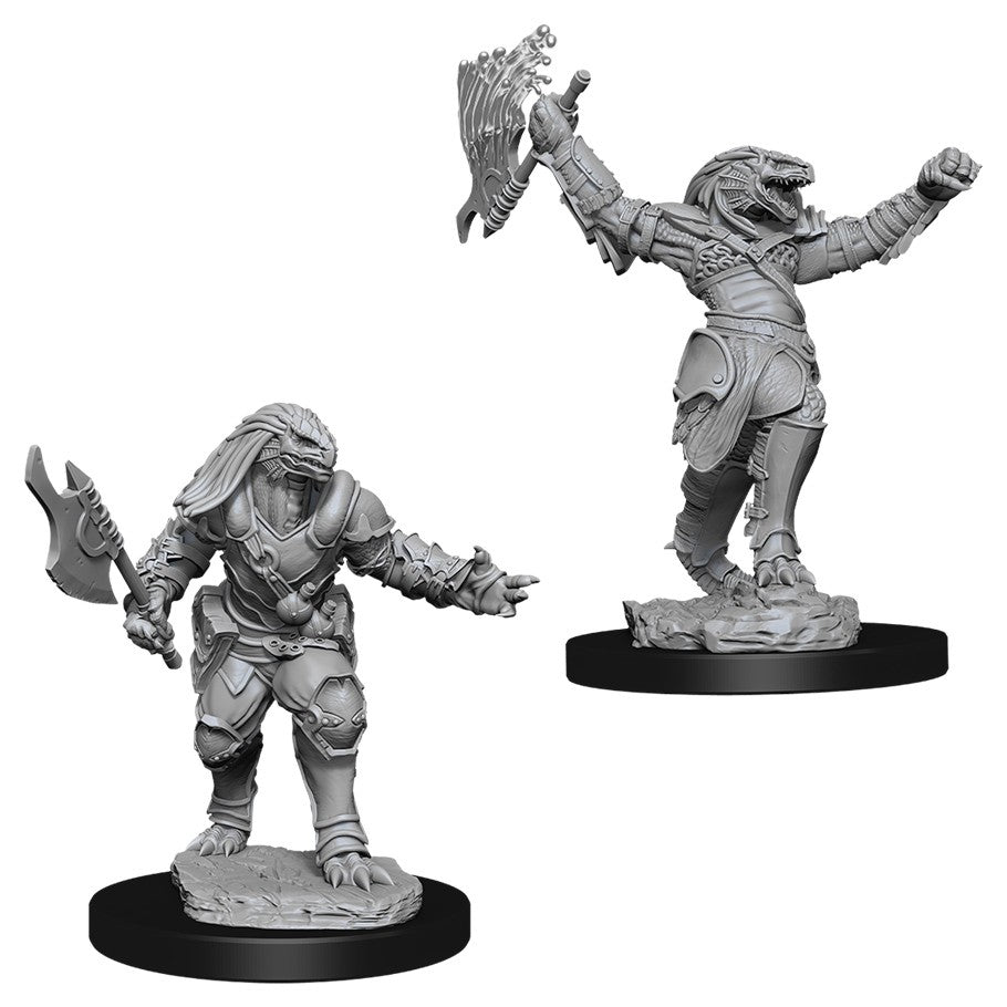 DUNGEONS AND DRAGONS: NOLZUR'S MARVELOUS UNPAINTED MINIATURES -W11-FEMALE DRAGONBORN FIGHTER