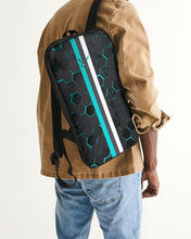 Load image into Gallery viewer, Silver Fox Blue Cyber Slim Tech Backpack