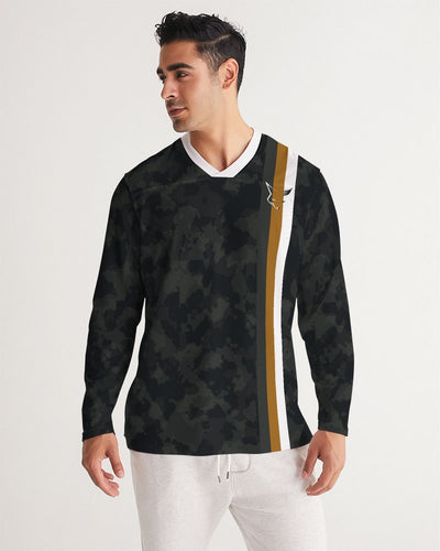 Silver Fox Dark Camo Long Sleeve Sports Jersey