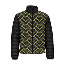 Load image into Gallery viewer, Silver Fox Black Royalty Puffer Jacket