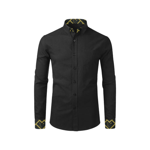 Silver Fox Luxe Reverse Black Royalty Dress Shirt