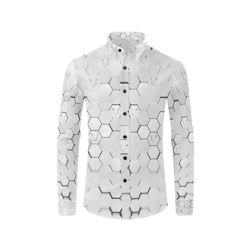 Silver Fox Luxe White Cyber Dress Shirt