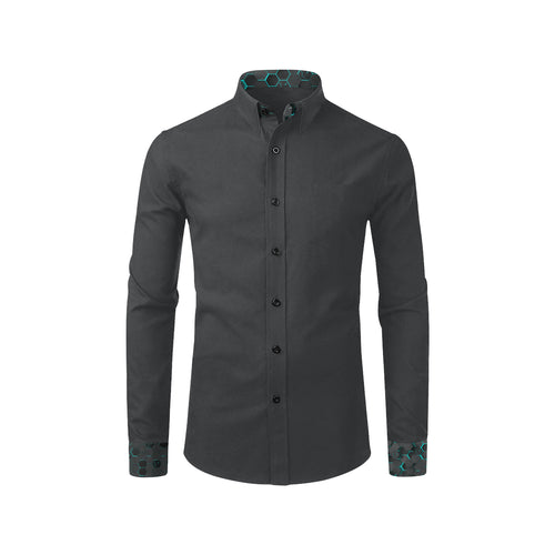 Silver Fox Luxe Reverse Blue Cyber Dress Shirt