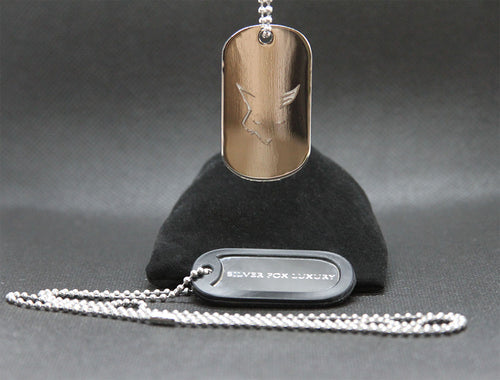Silver Fox Dog Tags