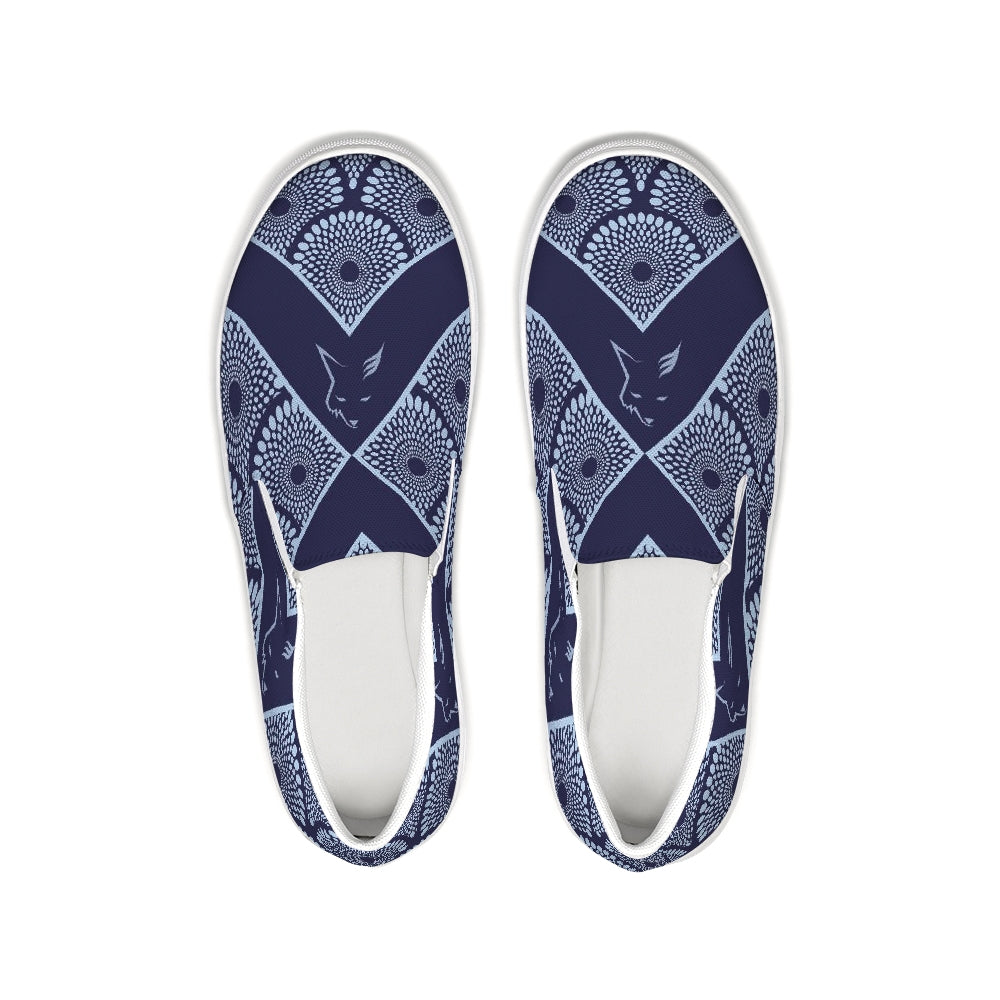 Silver Fox Royalty Collection Slip-On Canvas Shoe