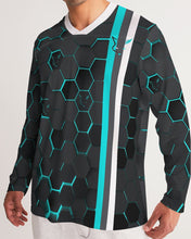 Load image into Gallery viewer, Silver Fox Blue Cyber Striped Long Sleeve Sports Jersey