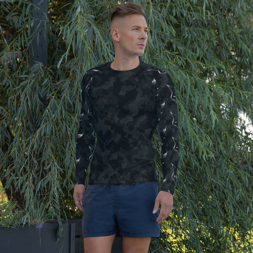 Silver Fox Rash Guard - Dark Camo Print Sleeves