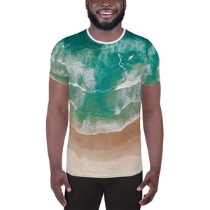 Silver Fox Cuban Nights - Ocean Athletic T-shirt