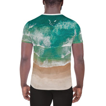 Load image into Gallery viewer, Silver Fox Cuban Nights - Ocean Athletic T-shirt