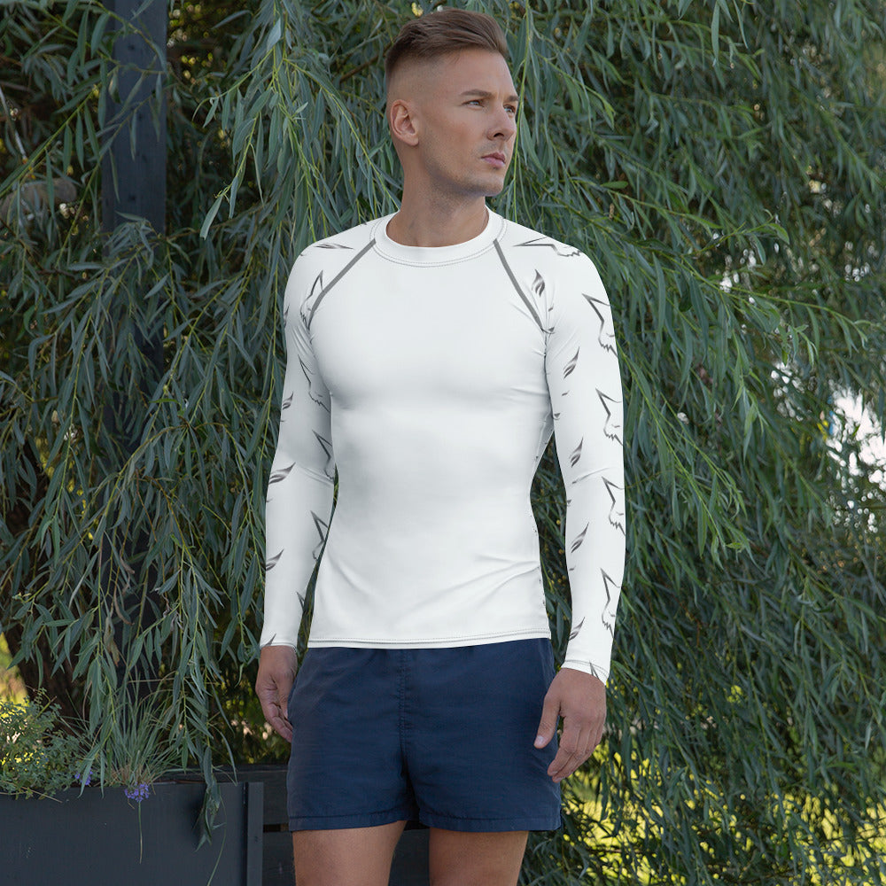 Silver Fox Men's Rash Guard - White
