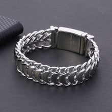 Load image into Gallery viewer, Men's Cuban Chain Bracelet 20mm Stainless Steel