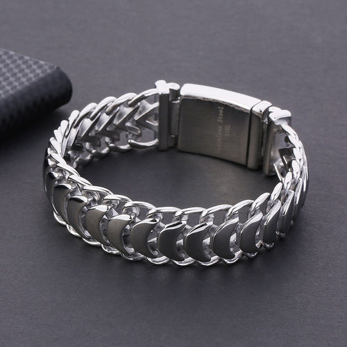 Men's Cuban Chain Bracelet 20mm Stainless Steel