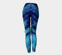 Load image into Gallery viewer, SHADES OF BLUE  Collection Yoga Pants - Art by Zana