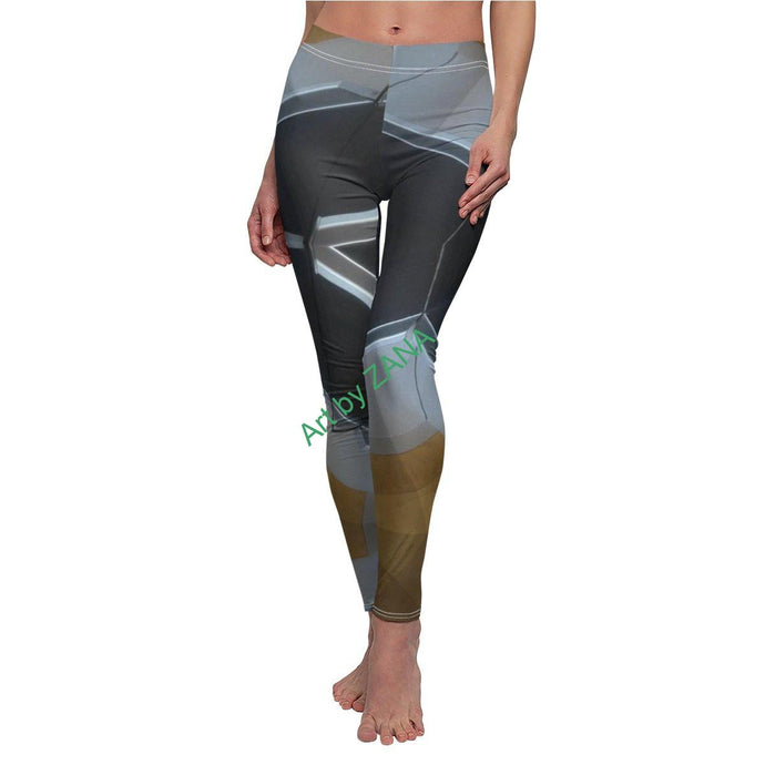 GOTH Women's Cut & Sew Casual Leggings - Art by Zana