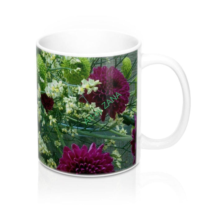FRESH Floral Mug 11oz - Art by Zana