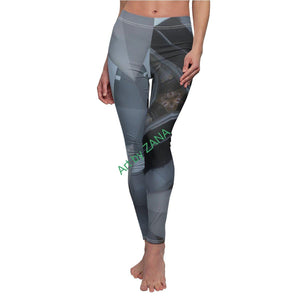 GOTH Collection Women's Cut & Sew Casual Leggings - Art by Zana