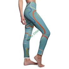 Load image into Gallery viewer, Cosmic Strings 1 Women's Casual Leggings - Art by Zana