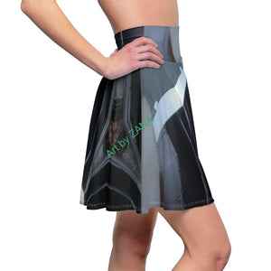 GOTH  Women's Skater Skirt - Art by Zana