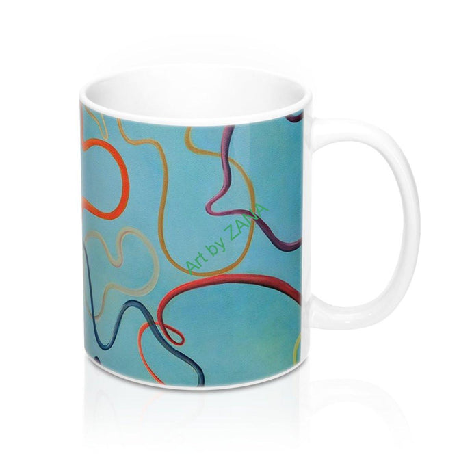 COSMIC  Strings Mug 11oz - Art by Zana