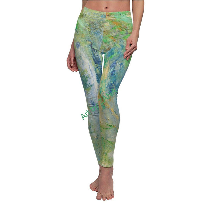 FRESH Women's Cut & Sew Casual Leggings - Art by Zana