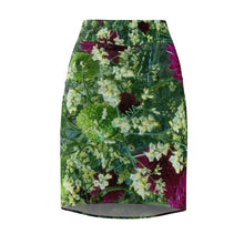 Load image into Gallery viewer, FRESH Floral Women's Pencil Skirt - Art by Zana