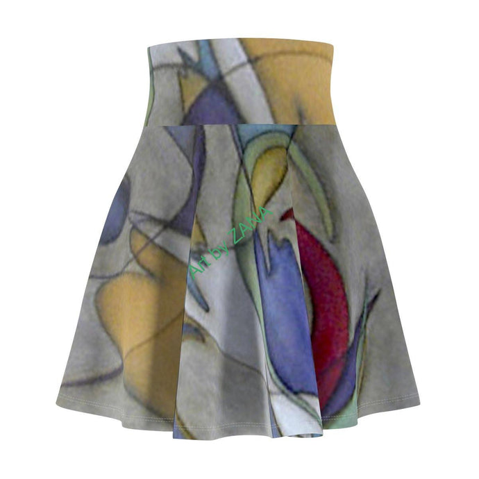 ABSTRACT Collection Women's Skater Skirt - Art by Zana