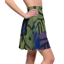 Load image into Gallery viewer, Looking 4 Marilyn Women's Skater Skirt - Art by Zana