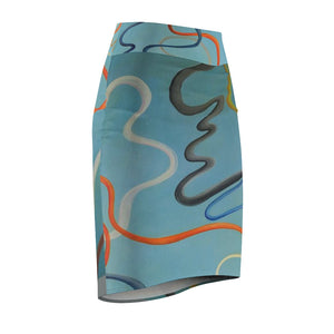 Cosmic Women's Pencil Skirt