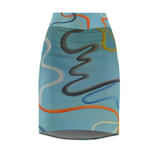 Load image into Gallery viewer, Cosmic Women's Pencil Skirt
