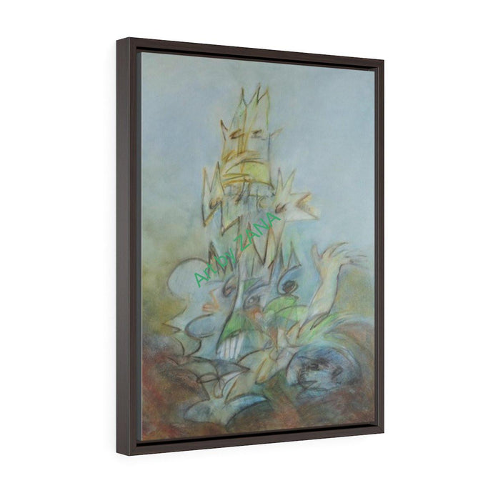 GICLEE Print Vertical Framed Premium Gallery Wrap Canvas - Art by Zana