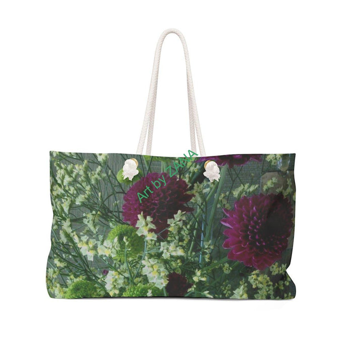 FRESH Floral Weekender Bag - Art by Zana